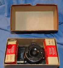 Vintage Monarch Mfg Traveler Pocket Camera box instructions Film!