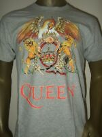 Men's M-XXL Queen Freddie Mercury Phoenix Lion Crown 80's Music Rock Band Shirt
