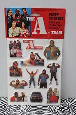 A-TEAM PUFFY STICKERS Mr. T TV Show Nostalgic Retro Vintage 80s Toy 1983 NEW