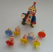Vintage Wilton Derby Clown Heads Cake Plastic Toppers Tops & Clown Hong Kong