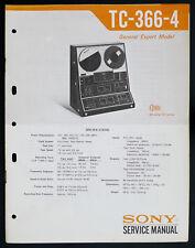 Sony tc-366-4 Original bandmschine/Stéréo TAPECORDER service-manual/Diagram o147