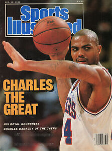 CHARLES BARKLEY HAND SIGNED SI VINTAGE MAGAZINE FROM 1988+COA      AWESOME+RARE