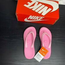 New With Box Nike Solay Thong Kids Girls 12C Light Pink Sandals Flip Flops