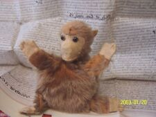 A antique, monkey, hand puppet. with label, chadvalley. 1930,s.