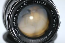 Asahi Pentax Super Takumar 50mm f/1.4 Rare 8-element Version s/n 1492152