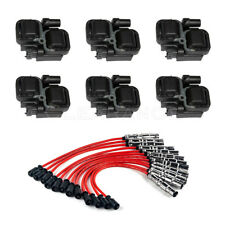 UF359 Ignition Spark Coils with Plug wire sets For Mercedes-Benz C CL CLK ML
