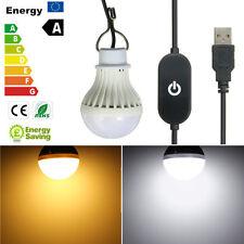 LED USB Lampe Licht Glühbirne 7W 5730 10 SMD Campinglampe Touch Schalter Outdoor