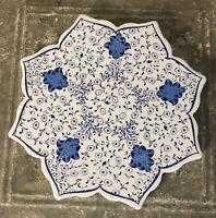 "Traditional Iznik Turkish Trivet Folk Art Ceramic Art Heat Resistant Star 7 1/2"""