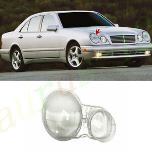 For Benz W210 E~Class 1996~2000 Right Side Headlamp Cover Clear Pc+Glue
