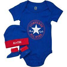 Converse All Star Baby 3-er Geschenkset Body Mütze Söckchen jungen blau