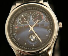 New men's M5 E39 replica steering wheel and dash chrome steel quartz wristwatch