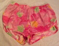 80s Vtg Shorts HEAD Running Gym Jog Nylon w/ Liner Pink Wmn Vtg Sz L NOS NWT NEW