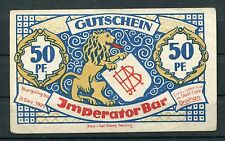 Hamburgo 50 peniques Notgeld emperador bar