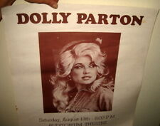 ORIGINAL 1970'S VINTAGE / ANTIQUE DOLLY PARTON CONCERT POSTER / COUNTRY WESTERN