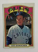 1972 Topps Leo Durocher # 576 Baseball Card Chicago Cubs Manager HOF
