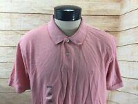 New IZOD Polo Shirt Men's XL Pink SS NWT