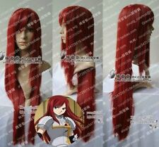 New FAIRY TAIL ERZA Dark Red cosplay long wig 80CM