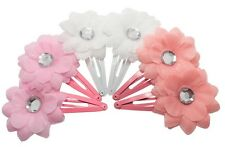6x GIRLS HAIR CLIPS SNAP CLIP BENDIES SLEEPIES CLIP GIRLS FLOWER HAIR PIN CLIPS