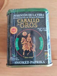 Caballo de Oros Geräuchertes Paprikapulver; Pimenton de la Vera;  süß 75g