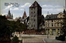 MAINZ am Rhein ~1910/20 Mayence Strassen Partie Eisern Turm Old Tower Postcard