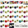"""100Pc 2"""" Real Touch Silk Camellia Head Artificial Fake Rose Flower Wedding Decor"""