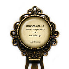 "Albert Einstein ""Imagination is more important than knowledge."" Bookmark"