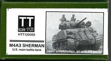 Hauler Models 1/120 American M4A3 SHERMAN TANK Resin & Photo Etch Model