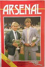 Arsenal v Bristol Rovers Football programme 1984