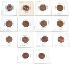 New Penny Coin Lot UK Great Britain 1971 73 74 75 76 77 78 79 1980 81 82 85 86