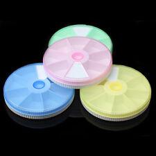Plastic 7 Day Round Weekly Medicine Organizer Pill·Box Holder Medication Case.