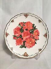 More details for royal albert elizabeth of glamis limited edition plate bradex 1990 flowers roses