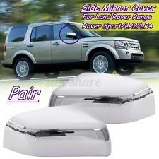 Pair Chrome Wing Side Mirror Cover Cap For Land Rover Range Rover Sport LR2