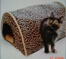 New listing K&H Kitty Camper Cat Bed Leopard Print Small Dog Bed