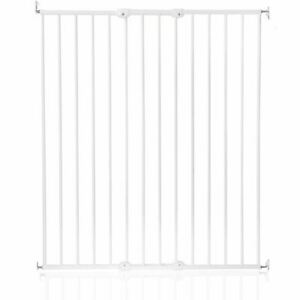 Safetots Extra Tall Screw Fitted Baby Pet Dog Safety Stair Gate White 62-106cm