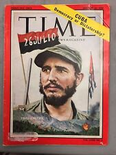 TIME MAGAZINE JANUARY 26, 1959 FIDEL CASTRO CUBA