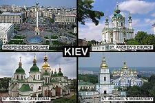 SOUVENIR FRIDGE MAGNET of KIEV KYIV UKRAINE