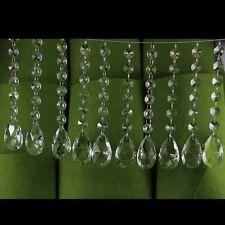 Supla 10 Pack Crystal Teardrop Chandelier Prisms Pendants Parts Beads Glass 1 5