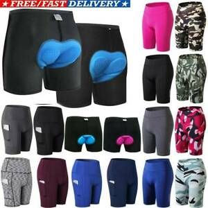 Mens Womens Cycling Shorts Pants Underwear Bicycle Riding Sport Bottoms Trousers