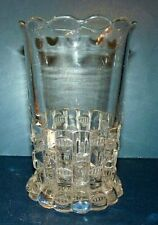 "Bryce Higbee & Co ETHOL ""Cut Log""Celery Vase 1890 Clear"