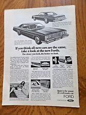 1973 Ford LTD Brougham 2 Door Hardtop & Galaxie 500 4 Door Hardtop Ad