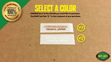 "Kuwahara ""Osaka, Japan"" BMX Decal Stickers - Seat Post Tube Apollo MTB Road Bike"