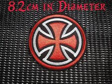 Quality Iron/Sew on Iron cross biker patch Harley Davidson Chopper Triumph Nazi
