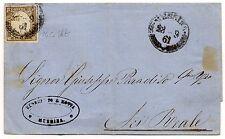 ANTICHI STATI 1861 SARDEGNA 10 CENTESIMI GRIGIO OLIVASTRO SCUROMESSINA28/3 D5697