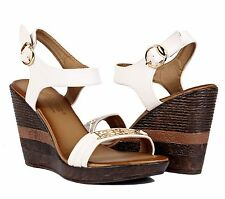 """Platforms Wedges Sexy Faux Leather 4""""Heels Pumps Womens Sandals Open Toe Shoes"""
