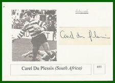CAREL du Plessis s Afrique autographe carte PHOTO Rugby