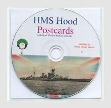 HMS HOOD - over 350 POSTCARDS on CD, Battlecruiser RN