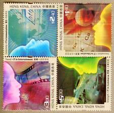 Hong Kong 2002 Cyber Industry in Hong Kong Stamps Se-tenant Block