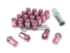 NNR Steel 7 Sided Wheel Lug Nuts Close Ended Pink 49mm 12x1.5 20pcs