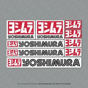 Yoshimura Stickers Motorcycle Decals Set A5 Sheet Of 9 Stickers - SKU2414