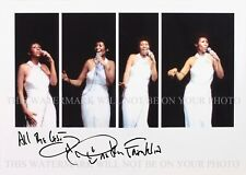 ARETHA FRANKLIN SIGNED AUTOGRAPH 8X10 RPT PROMO PHOTO RESPECT QUEEN OF SOUL